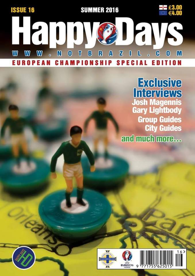 Happy Days Issue 16 cover, Euro 2016