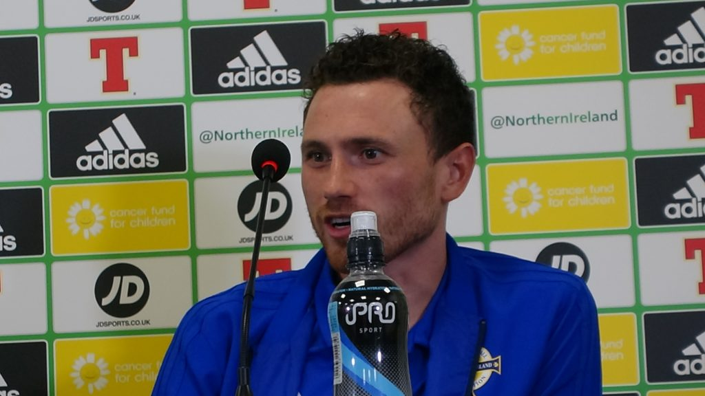 Corry Evans Northern Ireland press conference